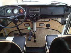 1972 Vw Bus custom bamboo interior