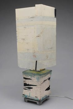 Mood Modern Lamps by Will Richards. One of a kind shades. Clay body.