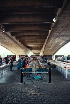 Southbank Centre Book Market (Under Waterloo Bridge)- second hand book store under a bridge. Would be made better if a troll (like, an actual beastly troll) was guarding it ;) ;) #litnerd