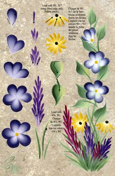 One Stroke Wildflowers Teaching Guide Packet by Folk Art