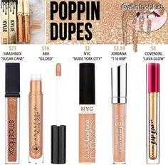 "Kylie cosmetics ""poppin"" dupes"