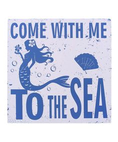 'Come With Me' Wall Sign #zulily #zulilyfinds