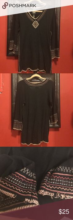 🍀last chance! Lucky Brand sweater🍀 Lucky Brand sweater. See third picture where sleeve stitching is coming undone. Other than that, good condition. I would keep this if I still fit into a small. Lucky Brand Sweaters