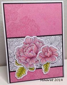 Papertrey Ink - In bloom, kukkasia