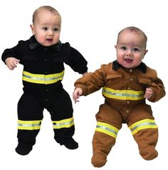 Fire Fighter Infant Costume - Firefighter Baby Costumes Funny Baby Costumes, Fun Costumes, Toddler Costumes, Funny Babies, Cute Babies, Baby Boy Outfits, Kids Outfits, Fireman Costume, Firefighter Family