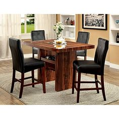 Furniture of America Marcson Counter Height Dining Table