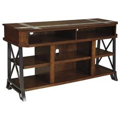 StyleLine Vinasville Large TV Stand with Metal Sides and Tile Inserts