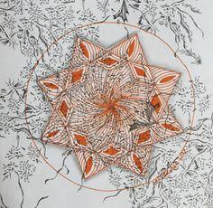 Tinker Tangles - Origami Paper Zendala Orange