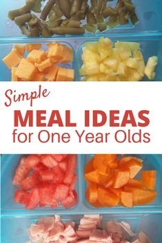Meal Ideas for One Year Olds | Master List of Food for Toddlers