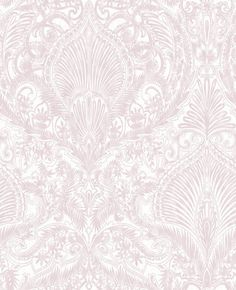 Burlesque Pink and White Wallpaper