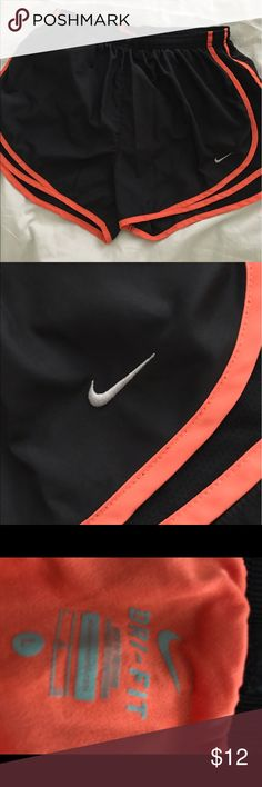 Nike orange and black dri fit running shorts Nike orange and black dri fit running shorts, NWOT, washed but not worn, smoke free home, Thanks for looking! 🛍 Nike Shorts