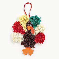 Tissue Paper Turkey Craft Kit - OrientalTrading.com