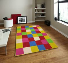 Sorento Metropolitan Green Check Rug Made From Wool Modern Rugs, Modern Contemporary, Childrens Rugs, Hand Tufted Rugs, Rug Making, Design Crafts, Kids Rugs, Retro, Wool Rugs