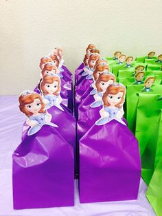 Sofia the first birthday goodie bags
