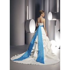 wedding dresses with a blue or purple on it   cute style with white and blue wedding dresses