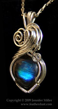 Everblue Heart Labradorite by ~Nambroth :: Also has a shop on http://featherdust.storenvy.com/collections/7480-hand-made-pendants
