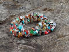 FREE SHIPPING Multi Colored  bracelet natural stone colored bracelet Everyday assorted beads bracelet Bridesmaid Women - pinned by pin4etsy.com