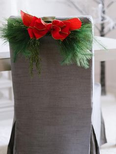 Tree Trimming - 8 Festive Holiday Chair Swag Ideas on HGTV