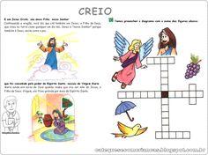 Catequese com Crianças: Oração do Creio: Ilustrado, explicado e Atividade para fixar