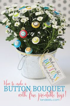 Flower Craft: Button Bouquet - Landee See Landee Do