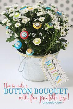 Flower Craft: Button Bouquet - Landee See Landee Do
