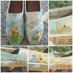 Classic Winnie the Pooh toms, custom made! Finally got around to making them and I love them!