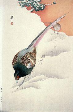 011-Faisanes en la nieve-Ohara Koson-via Lacma                              …