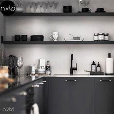 Nivito - Rhythm RH-320 Negro mate, Acero inoxidable #nivito #grifococina #grifo #grifosdecocina #grifomezclador #llavefregaderococina #negromate #grifería #aceroinoxidable #monomando #llavecocina #negrodiseñogrifo #negro #cocina #diseño White Interior Design, Simple Interior, French Interior, Minimalist Interior, Luxury Interior, Interior Styling, Minimalist Decor, Interior Decorating, Cool House Designs