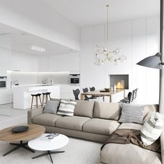 Apartment Interior project by Ly Anh Thi - ATviz, via Behance