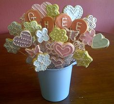 cookie bouquet Cookie Bouquet, Baby Shower Cakes, Baking, Cakes Baby Showers, Bakken, Backen, Sweets, Pastries, Roast