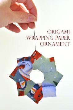 DIY: Origami Ornaments — Darkroom and Dearly - DIY: Origami Ornaments — Darkroom and Dearly Darkroom and Dearly: day of christmas: origami ornaments} Origami Ball, Diy Origami, Origami Wreath, Origami Modular, Christmas Bazaar Crafts, Christmas Paper Crafts, Christmas Sewing, Diy Christmas Gifts, Holiday Crafts