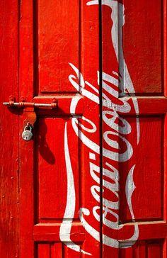 Coca cola door