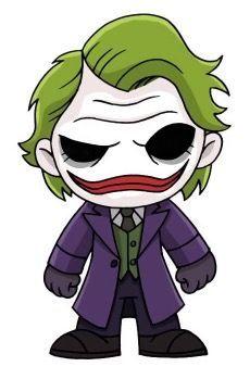 Joker Drawings, Marvel Drawings, Cool Art Drawings, Disney Drawings, Cartoon Drawings, Cartoon Art, Art Sketches, Deadpool Chibi, Chibi Marvel