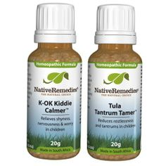 Native Remedies K-OK Kiddie Calmer and Tula Tantrum Tamer ComboPack by Native Remedies. Save 30 Off!. $38.12. The ComboPack of K-OK Kiddie Calmer and Tula Tantrum Tamer consists of multiple remedies that work well together to provide increased support for your condition. This ComboPack assists with anxiety relief and tantrums in young children. The K-OK Kiddie Calmer reduces anxiety and worry in children while the Tula Tantrum Tamer reduces tantrums and restlessness, and promotes calmne...