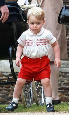 Kate Middleton, Prince William, Prince George at Princess Charlotte christening