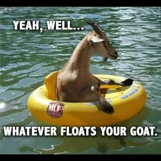 What ever floats ur goat bud