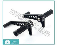 Universal CNC Billet Alu Rearsets Rear Set Footpegs Foot Peg For KAWASAKI KZ 400 650 750 900 1000 1100 S3 400 Black