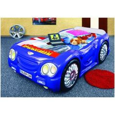 Garage introducing Blue Sleep Car bed for kids. This car bed will take your child for a dream ride every night. Regular sleep time will turns into fan times Kids Single Beds, Kids Car Bed, Beds Online, Blue Bedding, Kid Beds, Baby Boy, Boy Babies, Dream Cars, Spiderman