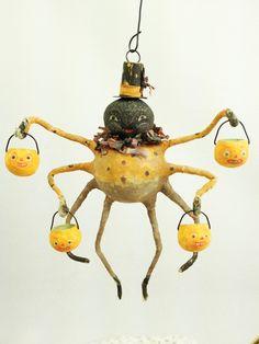 Image result for vintage halloween spider figure