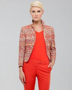 Akris punto Tweed Peplum Jacket   $1,460.00