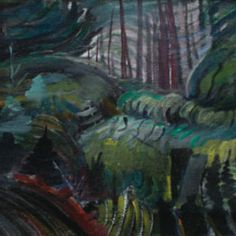 Dark Forest -- oil on canvas by Emily Carr circa 1935 Canadian Painters, Canadian Artists, Emily Carr Paintings, Group Of Seven Artists, Grave Monuments, Amazing Paintings, Dark Forest, Green Man, Art Club