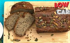 Chleba z Lučiny, bez psyllia - LC Low Fodmap, Low Carb, Tasty, Yummy Food, Banana Bread, Keto, Food And Drink, Homemade, Meals