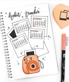 If you like Polaroids, why not try out these 20 polaroid bujo spread for you own bullet journal and decorate it out with the various kinds of bujo spreads! Bullet Journal School, Bullet Journal Inspo, Bullet Journal 2019, Bullet Journal Tracker, Bullet Journal Notebook, Bullet Journal Aesthetic, Bullet Journal Themes, Bullet Journal Layout, Lettering