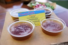 Beer flight of Orlando Brewing Company Blonde Ale, 3 Daughters Brewing Channel Marker Red Ale, Field of Flowers Farmhouse Ale and Cigar City Jai Alai  from Florida Fresh at the 2015 Epcot  Flower and Garden Festival