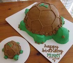 big momma turtle and baby smash cake