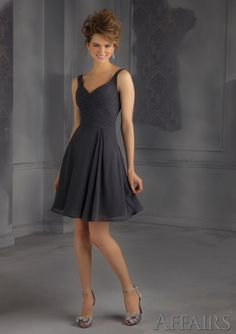 Short Bridesmaids Dress From Affairs By Mori Lee Dress Style 31042 Chiffon Bridesmaid Dress