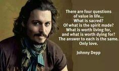 Johnny Depp on LOVE