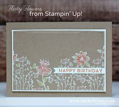 Michelle Last || Flirty Flowers from Stampin' Up!