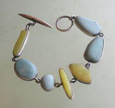 terri logan jewelry - River rocks set in silver