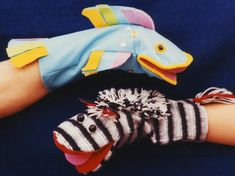 PDF Sewing PATTERN for a Parrot, Duck, Zebra, Fish, Panda, Raccoon, Rabbit & Mouse hand puppet. In the late 1980s I worked as a graphic designer for a